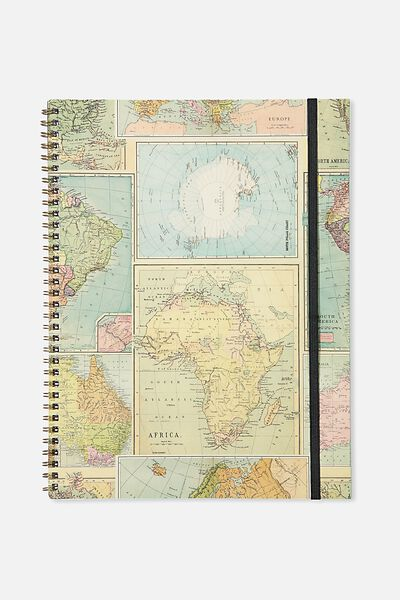 A4 Spinout Notebook - 120 Pages, MAP GRID