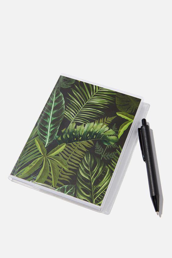Mini Notebook & Pen Set, FERN FOLIAGE