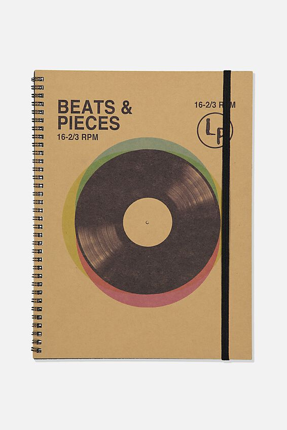 A4 Spinout Notebook Recycled, TBAR BEATS & PIECES
