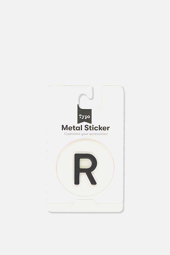 Metal Stickers, BLACK R