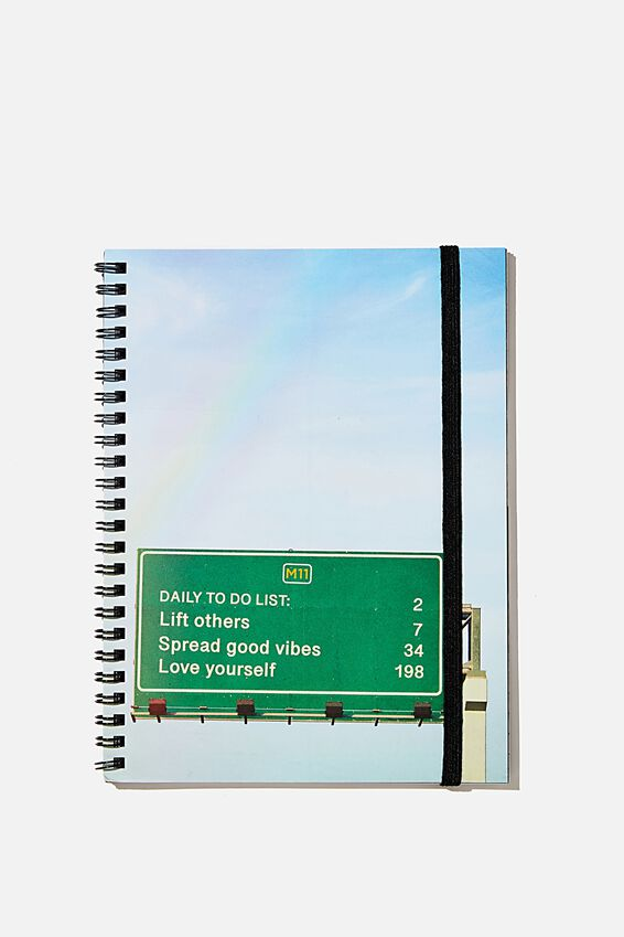 A5 Spinout Notebook Recycled, FREEWAY DAILY TO DO SIGN