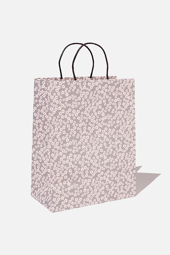 Get Stuffed Gift Bag - Medium, CHERRY BLOSSOM GREY