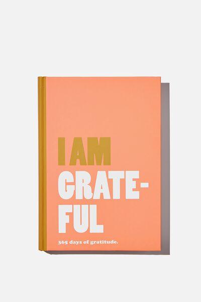 A5 Fashion Activity Journal, I AM GRATEFUL PINK