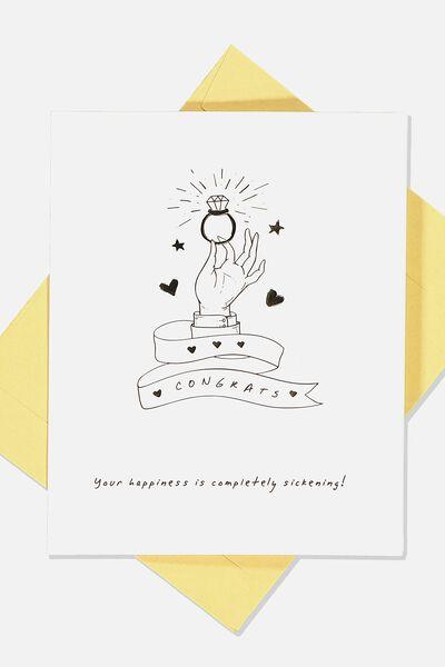 Engagement Card, ENGAGEMENT LINE HAND