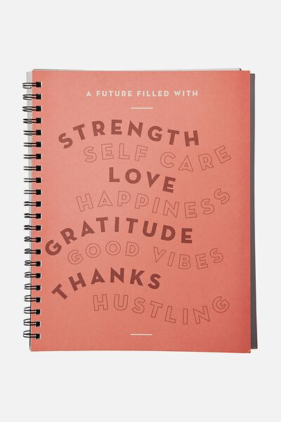 A4 Campus Notebook Recycled, FILLED WITH GOOD VIBES