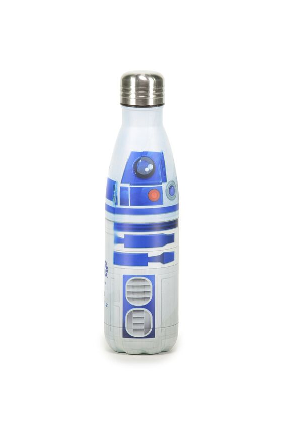 Metal Drink Bottle, LCN STAR WARS R2D2