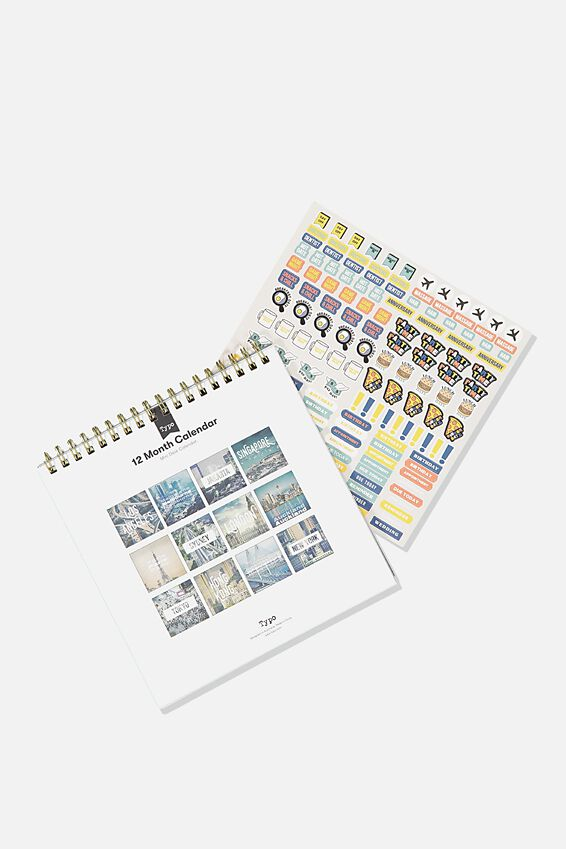 2020 Get A Date Flip Desk Calendar, CITIES OF THE WORLD