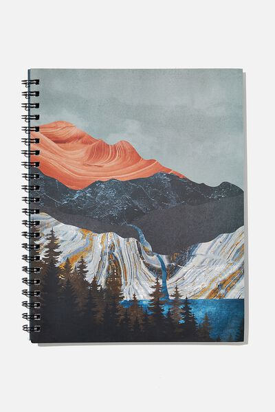 A4 Campus Notebook Recycled, MOUNTAINS HIGH
