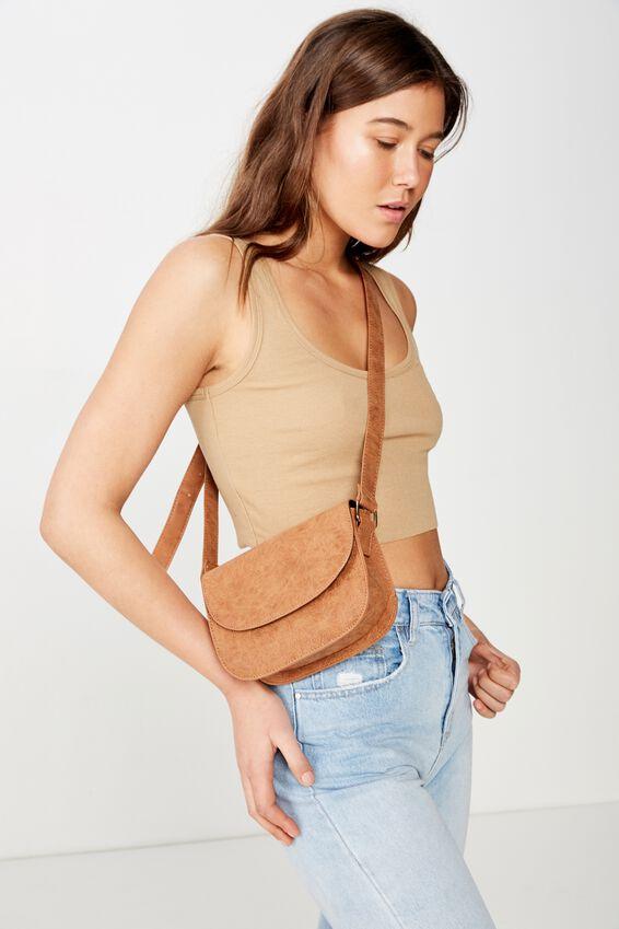 Arizona X-Body Bag, NEW MID TAN TOOLED