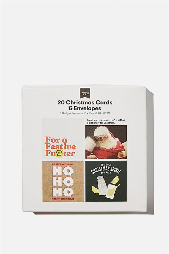 Christmas Card 20 Pack 2020, RUDE CHRISTMAS!!