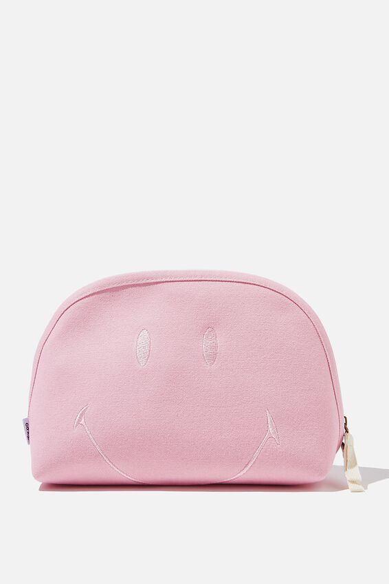 Smiley Canvas Essential Pouch, LCN SMI SMILEY PINK FACE