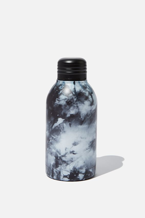 Mini Metal Drink Bottle, BW TIE DYE