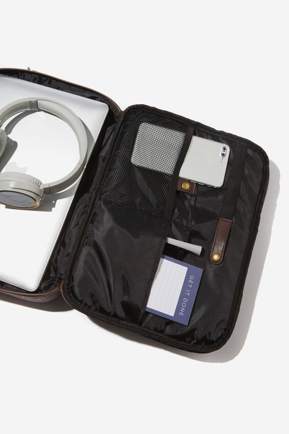 Mobile Laptop Folio, TEXTURED RICH TAN