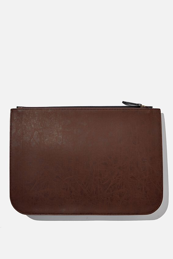 Buffalo 13 Inch Tech Folio, BLACK AND RICH TAN