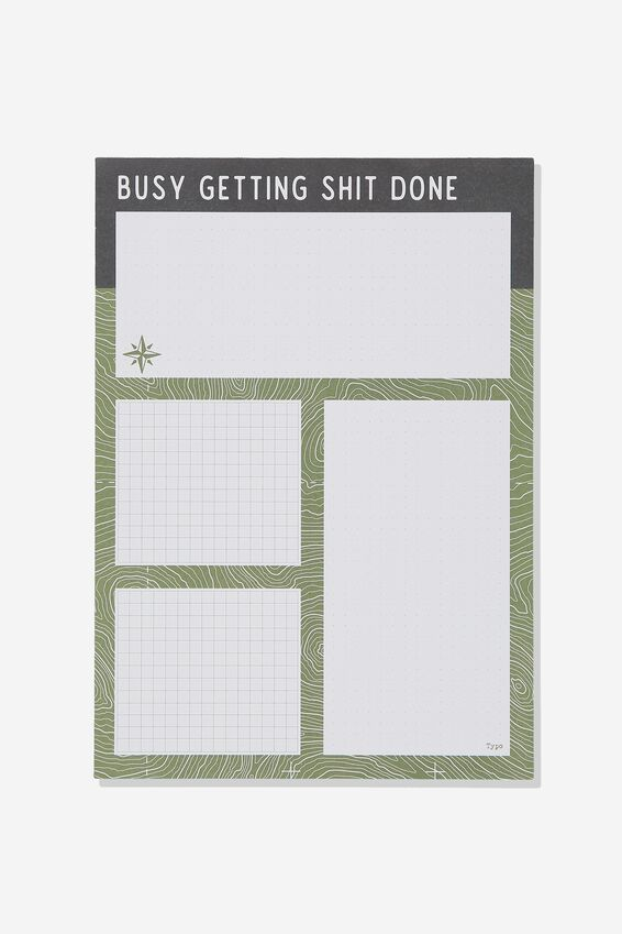 A4 Plan Ahead Planner, GETTING SHIT DONE GREEN!