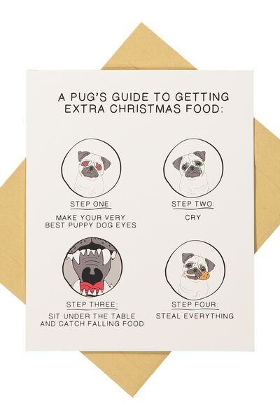 Christmas Cards 2017, A PUGS GUIDE