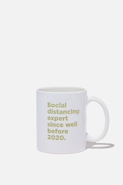 Limited Edition Anytime Mug, SOCIAL DISTANCING EXPERT