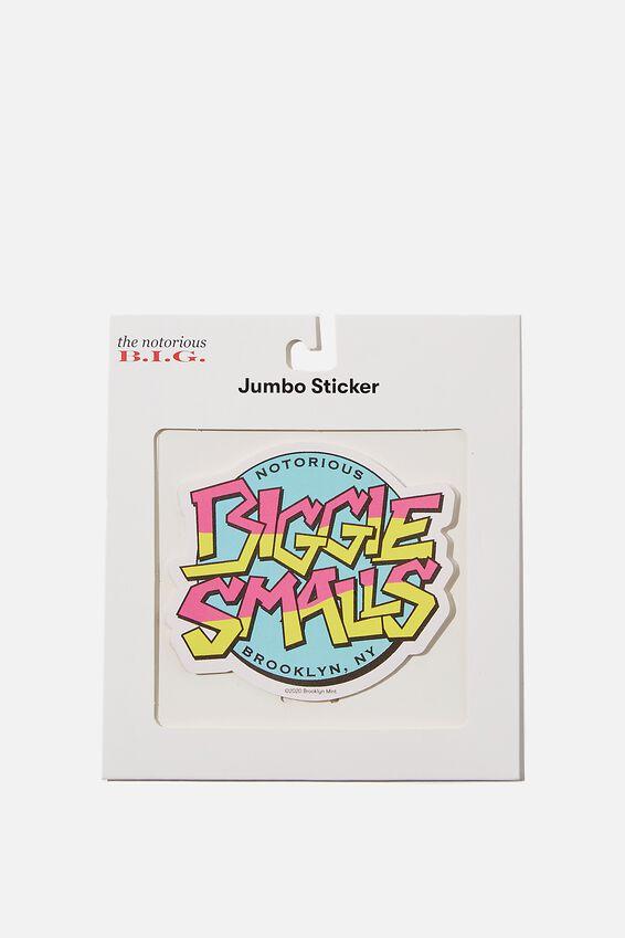 Biggie Smalls Jumbo Sticker, LCN MT BIG LOGO