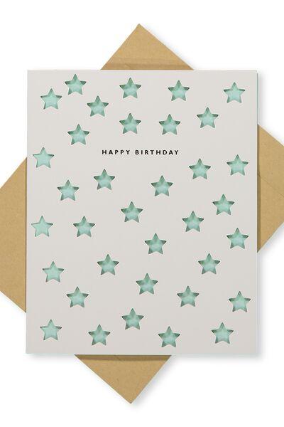 Premium Nice Birthday Card, DIE CUT STARS