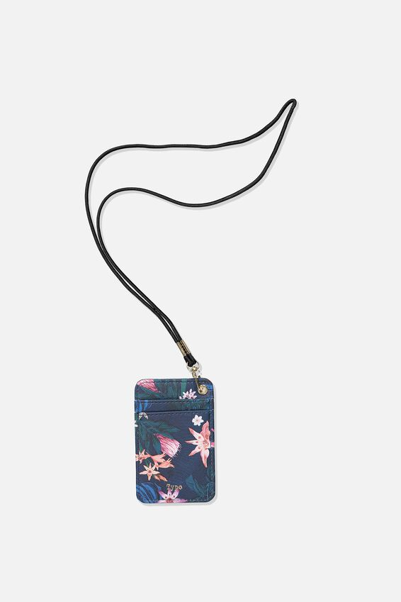 Printed Card Holder, JUNGLE FLORAL