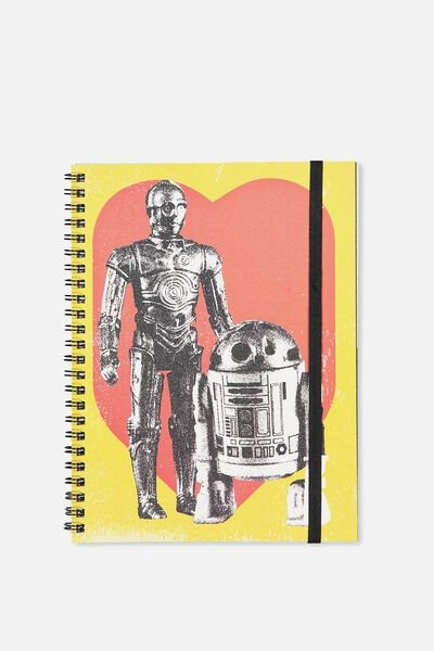 A5 Spinout Notebook - 120 Pages, LCN C3P0 R2D2