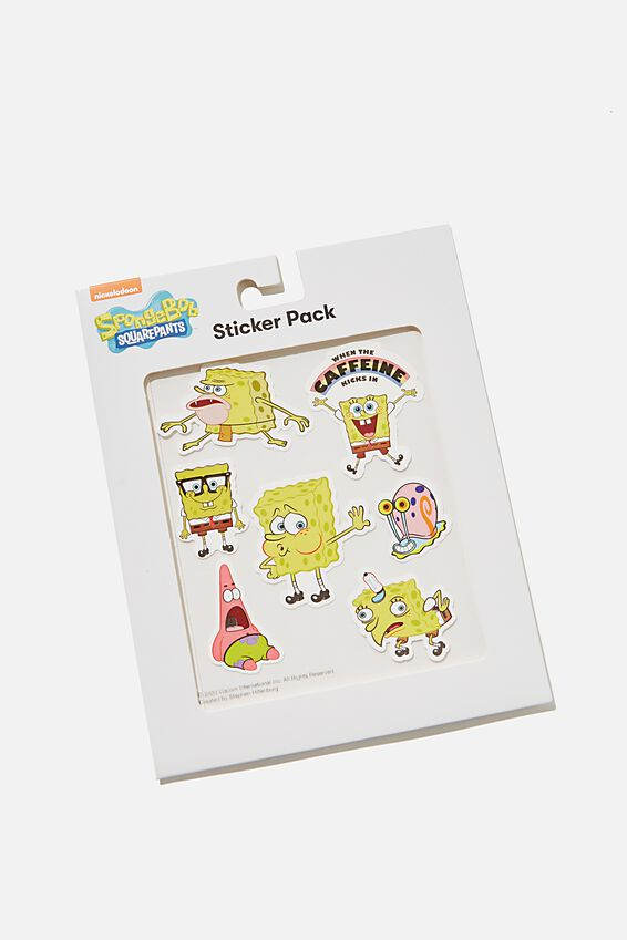 SpongeBob SquarePants Sticker Pack, LCN NIC SPONGEBOB