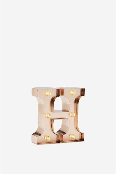 Mini Marquee Letter Lights 10cm Rose Gold H