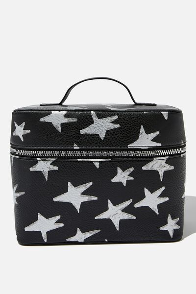 Vacay Cosmetic Bag, STAR PRINT