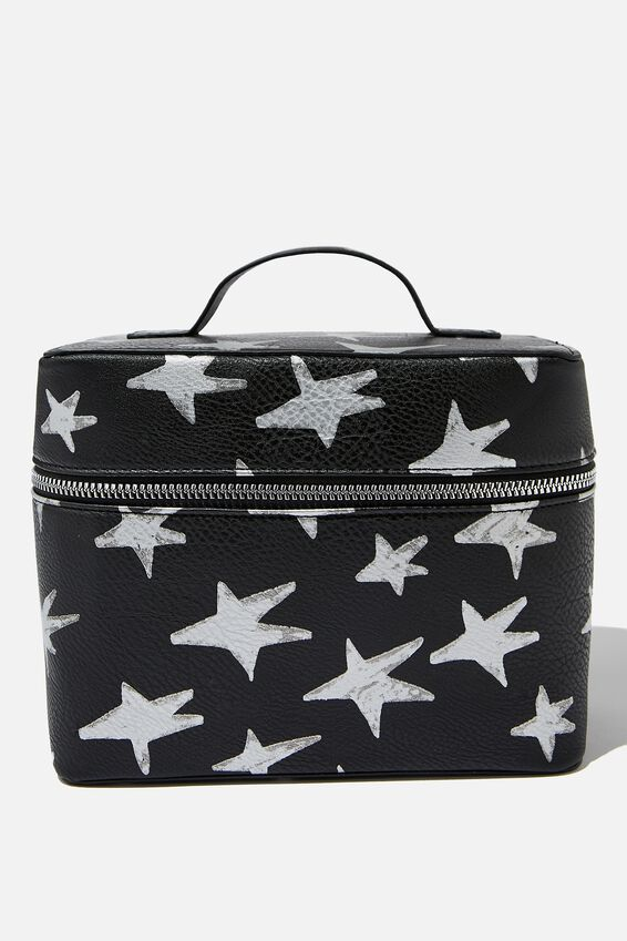 Vacay Cosmetic Bag, STAR PRINT