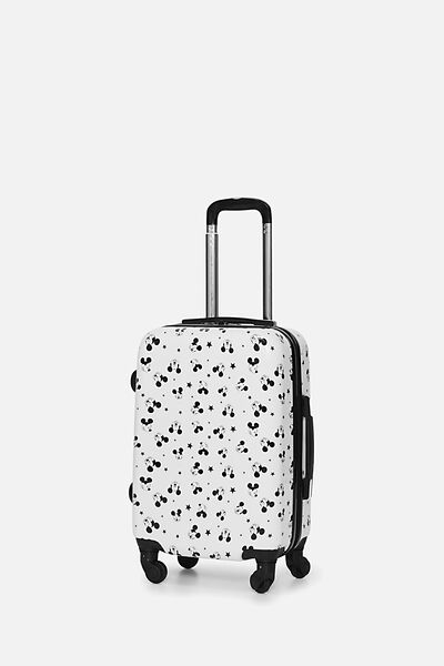 Lcn Small Suitcase, LCN WHITE MICKEY DITSY PRINT