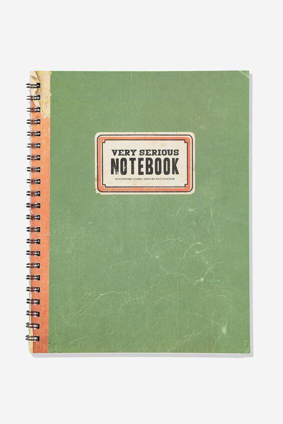 A4 Campus Notebook Grid Internal, VERY SERIOUS NOTEBOOK