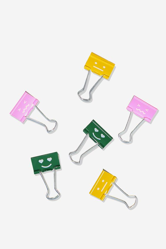 Bulldog Clip Pk 6, EMOTIONS