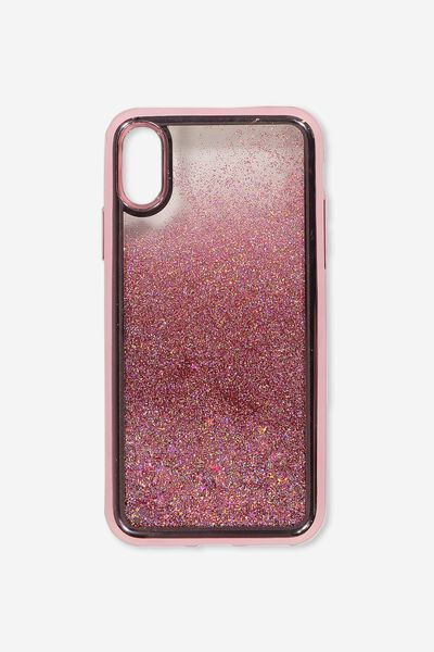 Shake It Phone Case Iphone X,Xs, ROSE GOLD GLITTER