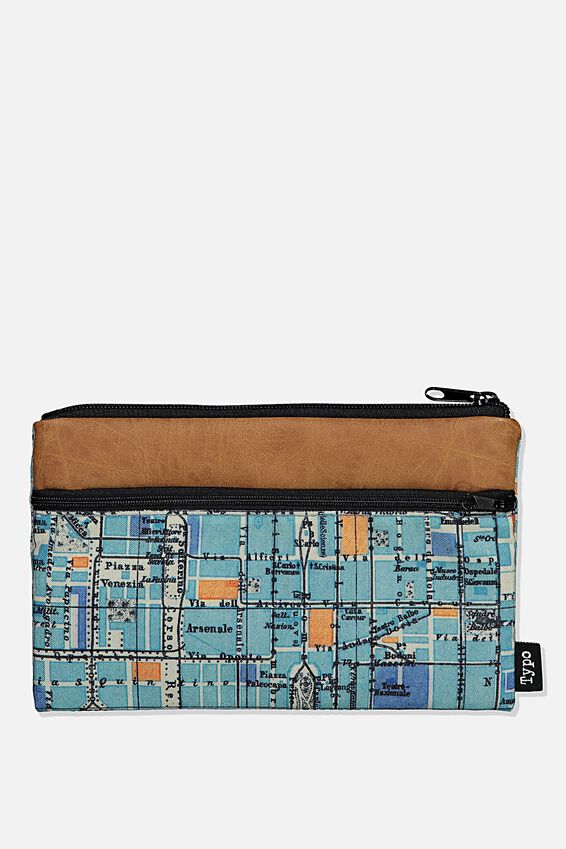 Archer Pencil Case, STREET MAP COMBO