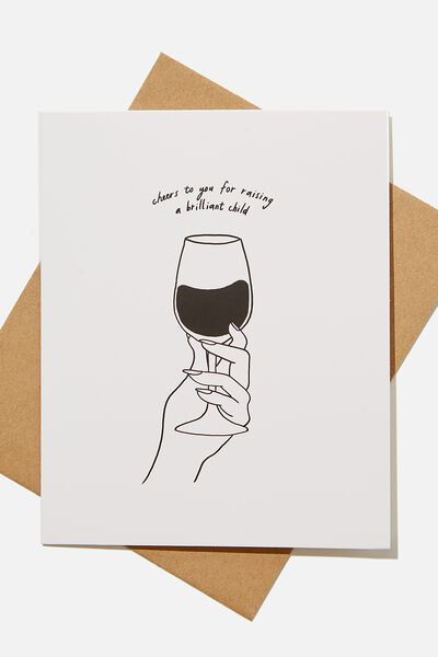 Mothers Day Card 2021, RAISING A BRILLIANT CHILD WINE!
