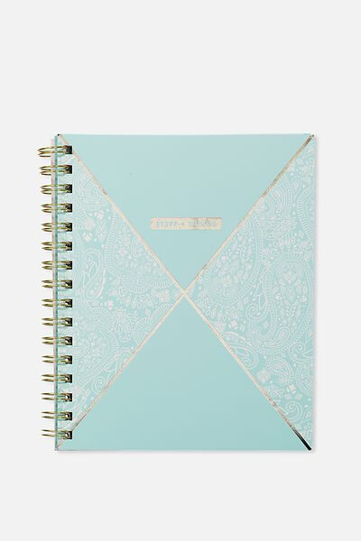 A5 Campus Notebook - 240 Pages, BLUE LACE SPLICE
