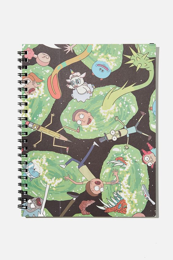 A4 Rick & Morty Campus Notebook Recycled, LCN RN RICK SLIME CNW