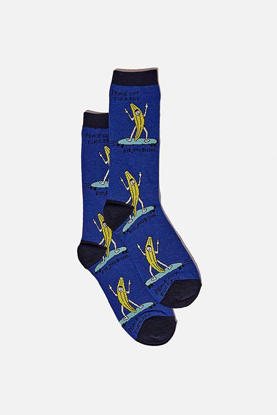 Socks, PEACE OUT F#$KERS!!