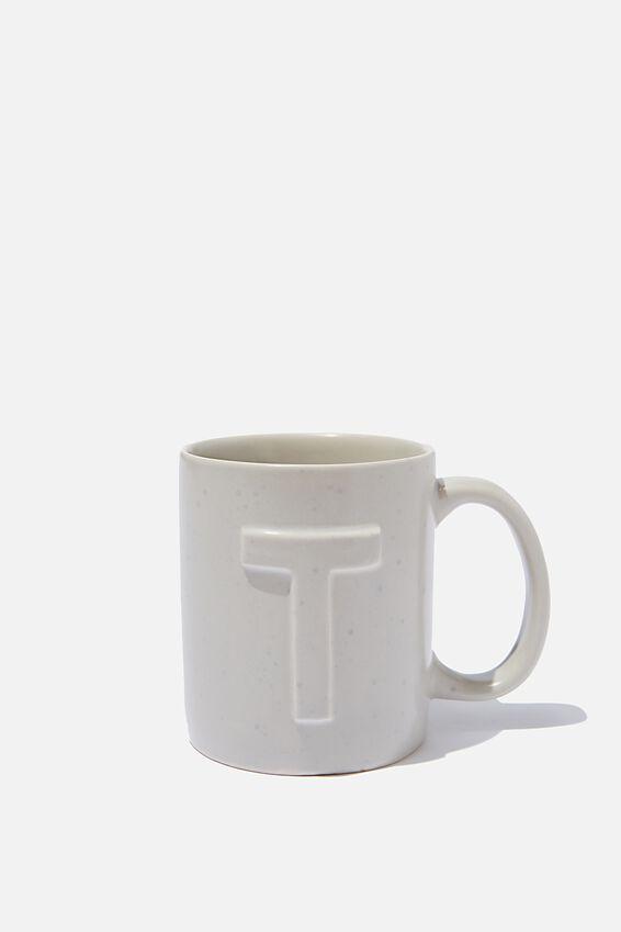 Alphabet Anytime Mug, SPECKLED T
