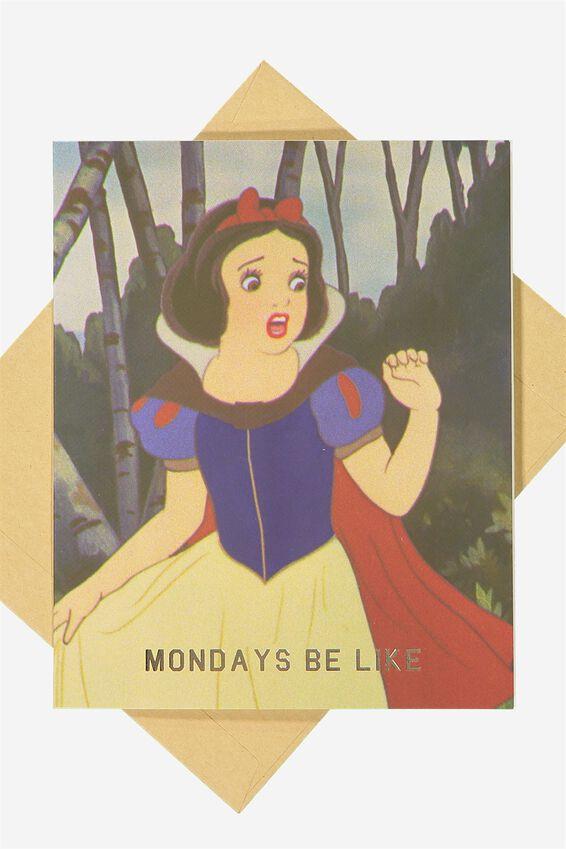 Disney Blank Card, LCN DISNEY MONDAYS BE LIKE
