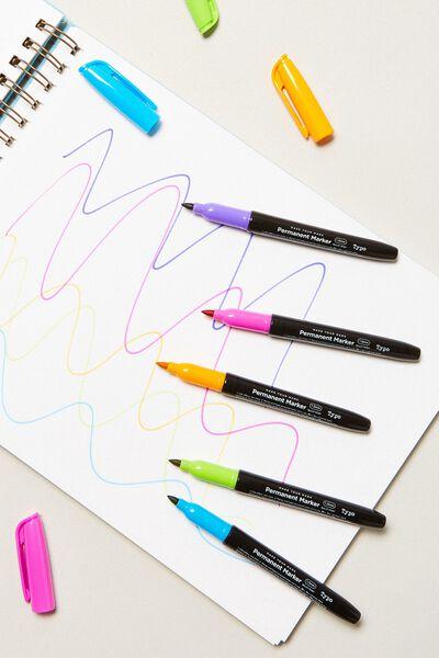 Make Your Mark Permanent Marker 5Pk, BRIGHTS
