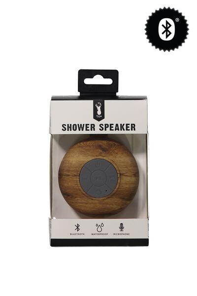 Shower Speaker, WOOD GRAIN