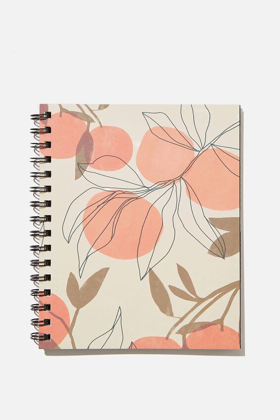 A5 Campus Notebook Recycled, ORANGES AND LEAVES