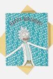 Rick and Morty Funny Birthday Card, LCN CNW RM GET SCHWIFTY