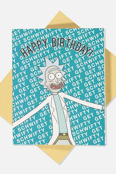 Funny Birthday Card, LCN CNW RM GET SCHWIFTY