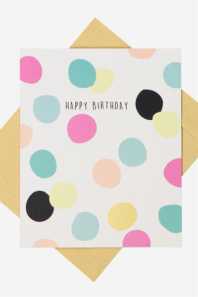 Nice Birthday Card, BIRTHDAY SPOTS