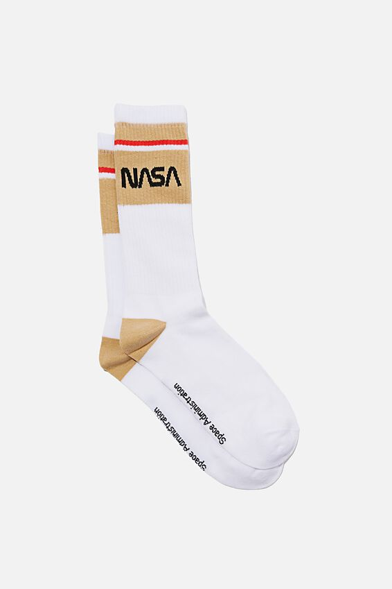 NASA Socks, LCN NAS STRIPE LOGO