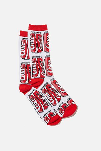 Novelty Socks, LCN COKE CANS