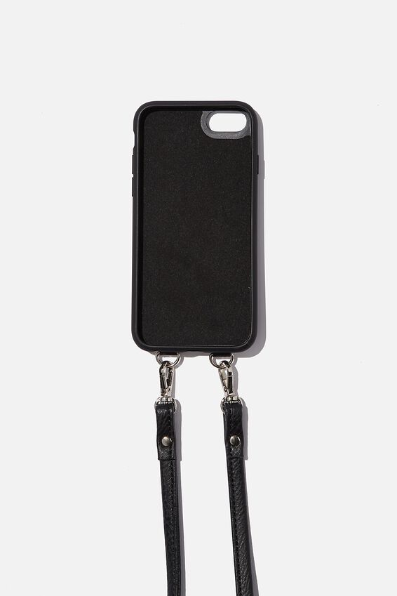 Pu Cross Body Phone Case Iphone 6, 7, 8, BLACK