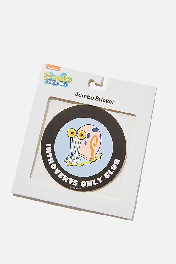SpongeBob SquarePants Jumbo Sticker, LCN NIC FEELING STRESSED